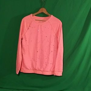 Cat & Jack XL pink awesome sequin sweater